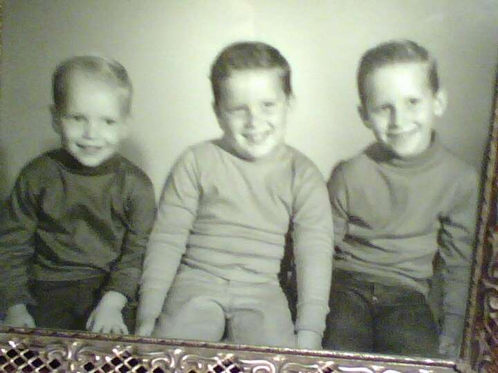 Then: L-R , youngest to oldest: Mike, Wayne & Alan Sisk, taken in 1966 in Alabama.