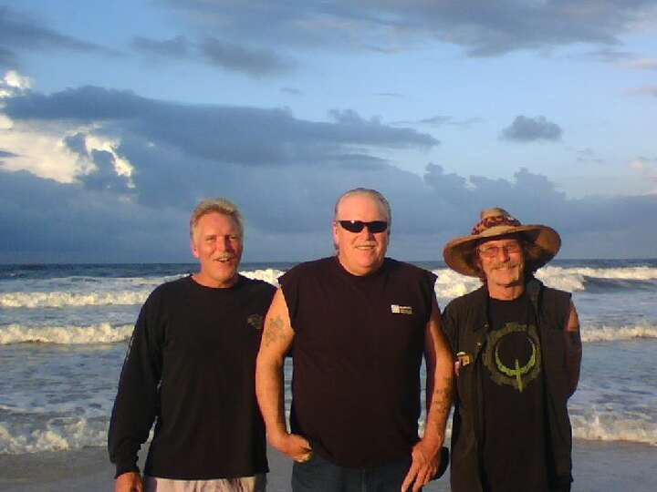 Now: Mike, Wayne & Alan Sisk, taken in September 2012 at Panama City Beach.