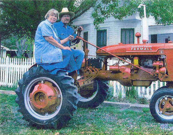 Now: Brother and Sister, Ben and Carolyn Heinimeyer, taken in Geronimo, Texas, in 2011 on the same tractor. Photo: Courtesy Photos
