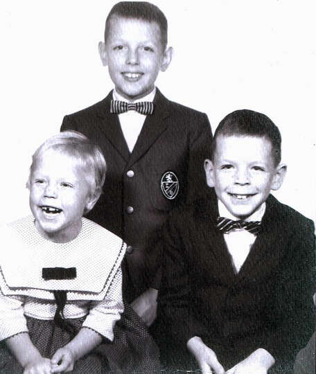 Then: 1966, River Ridge, Indiana. Left to right:  Tina Hedgepeth, Tim Hedgepeth, Todd Hedgepe