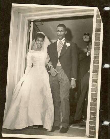 Then: 1962 wedding of William & Etta Tricksey, St Elizabeth Church, Selma, Alabama. Etta, a m