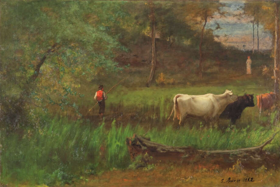 George Inness, A Pastoral, c. 1882?85. Oil on canvas. The Clark. Gift of Frank and Katherine Martucci, 2013.1.3 Photo: Peter Jacobs / Copyright: