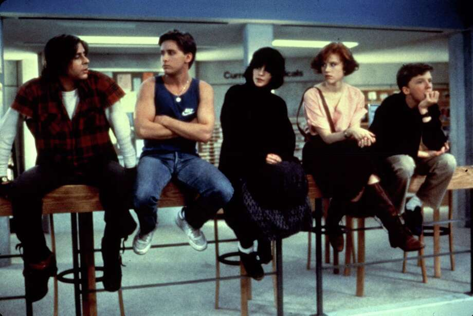 These catchy tunes brought to us (or made much more popular) by Hollywood.'Don't You Forget About Me' by Simple Minds -  'The Breakfast Club.'  Photo: MCA / handout