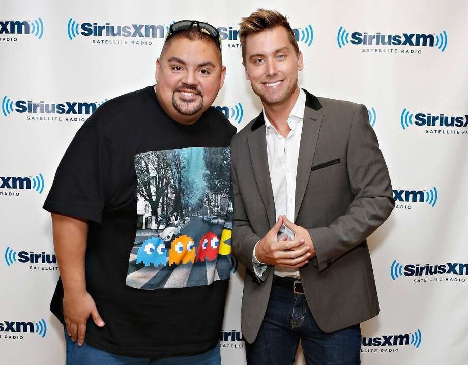 NEW YORK, NY - APRIL 04:  Comedian Gabriel Iglesias poses with singer/ siriusxm host Lance Bass at the SiriusXM Studios on April 4, 2013 in New York City.  (Photo by Cindy Ord/Getty Images)