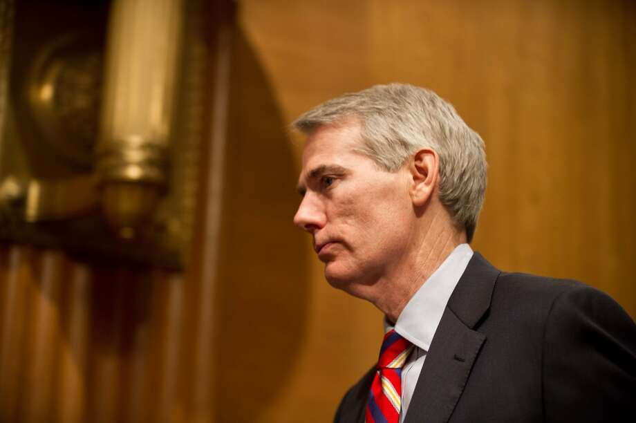 Republican Sen. Rob Portman of Ohio, a 2012 Mitt Romney running mate finalist, has announced his support for same-sex marriage -- influenced by a son who is gay. Photo: AFP/Getty Images