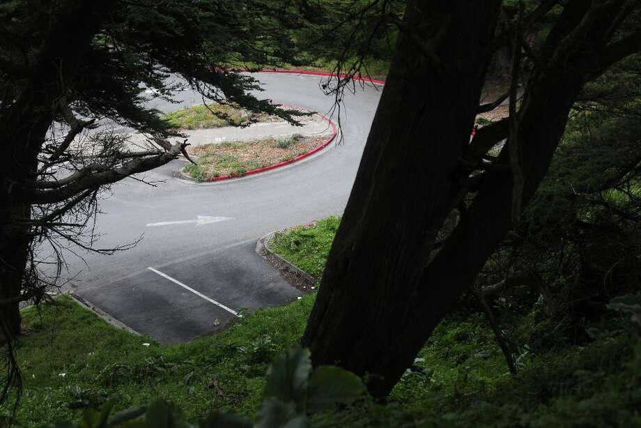An empty parking lot on the south side of Point Lobos Ave. is seen from Sutro Heights on April 2, 2013 in San Francisco, Calif. Photo: Pete Kiehart, The Chronicle / ONLINE_YES
