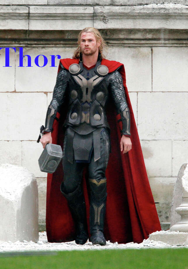 Hunky Chris Hemsworth and 'The Avengers' did for Thor what the god of Norse mythology could not: Made it a popping baby name for 2013.  Views of the name Thor, which means thunder, are up over 200 percent in the first three months of this year, joining other newly cool mythological names such as Orion, Juno, Jupiter and Persephone. Photo: Simon James, Simon James / FilmMagic / 2012 Simon James