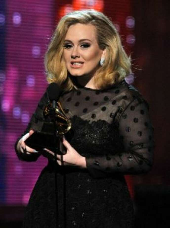 Adele isn\'t just popular at the Grammy\'s, she\'s also got a popular name right now.  (Kevin Winter / Getty Images)
