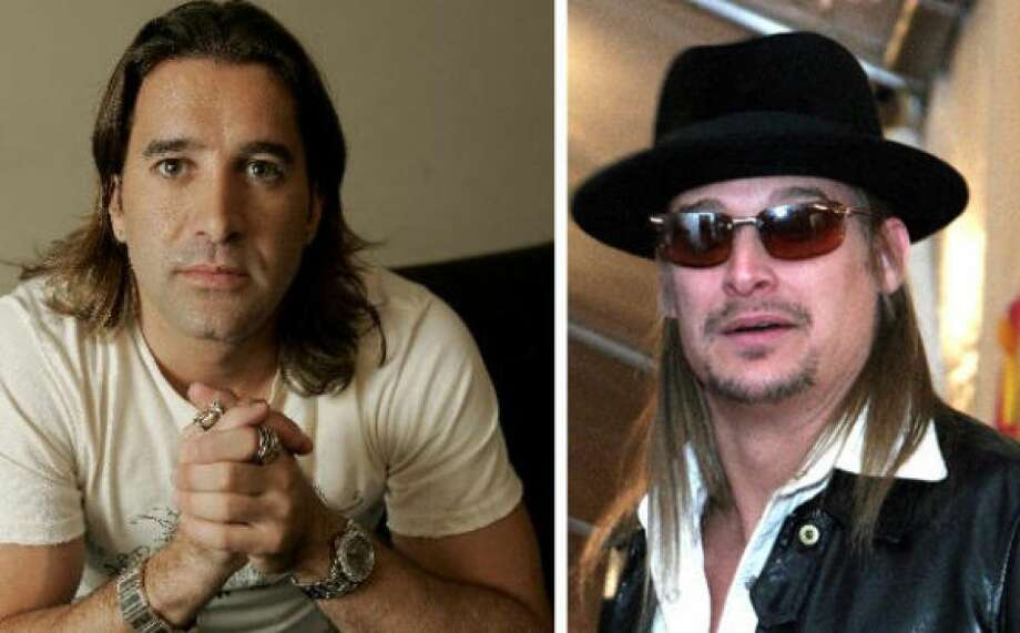 Scott Stapp and Kid Rock found themselves in the midst of scandal when a tape was released of the twosome having sex with four groupies. Photo: Photo By Getty