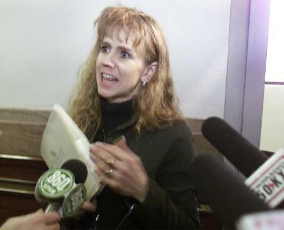 Already disgraced Tonya Harding and her husband's sex tape was so widely available, they decided to release it themselves. Photo: Photo By JEREMIAH COUGHLAN/AP