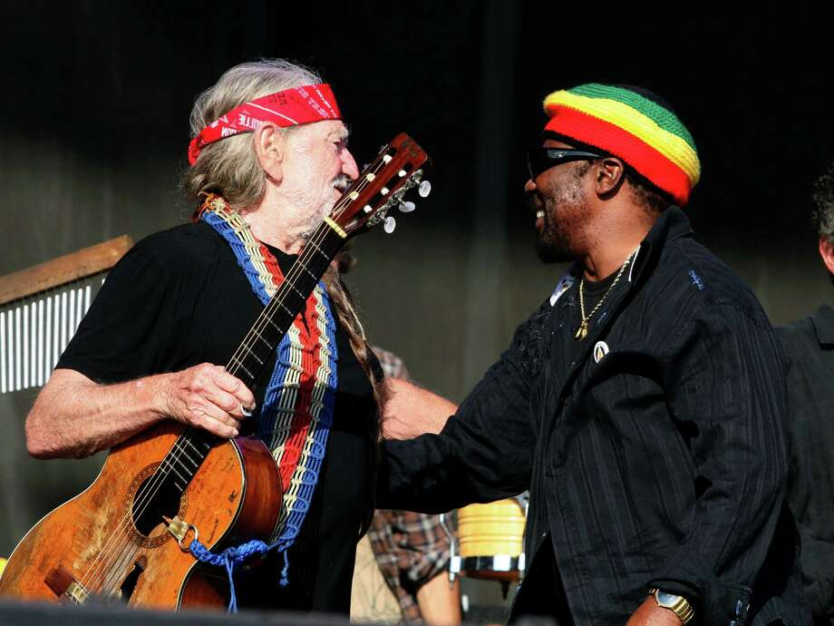 ROTHBURY, MI - JULY 05: Willie Nelson (L) and Toots Hibbert of Toots and the Maytals perform during the 2009 Rothbury Music Festival on July 5, 2009 in Rothbury, Michigan. (Photo by Taylor Hill/FilmMagic) Photo: Taylor Hill, Getty / 2009 Taylor Hill