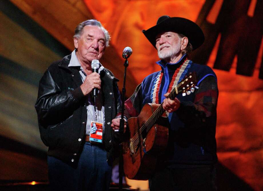 "Ray Price and Willie Nelson during ""Willie Nelson and Friends: Live and Kickin'"" Premiers on USA Network on May 26, 2003 - Rehearsal and Backstage at Beacon Theatre in New York City, New York, United States. (Photo by KMazur/WireImage) Photo: KMazur, Getty / WireImage"