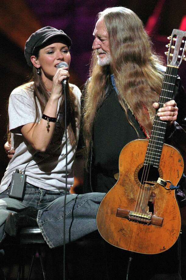 "Shania Twain and Willie Nelson during ""Willie Nelson and Friends: Live and Kickin'"" Premieres on USA Network May 26, 2003 - Show at Beacon Theatre in New York City, New York, United States. (Photo by Theo Wargo/WireImage) Photo: Theo Wargo, Getty / WireImage"