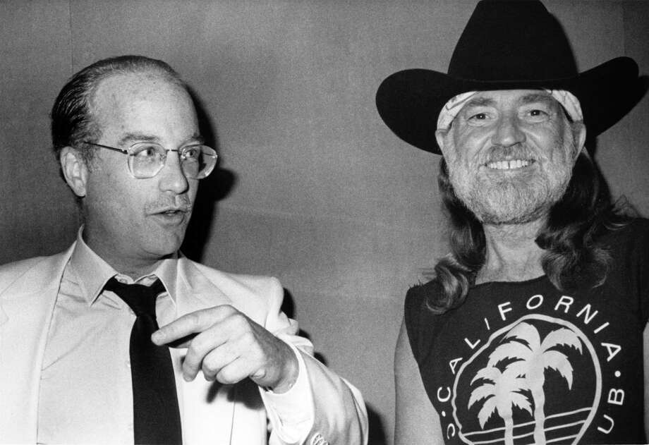 CENTURY CITY - JULY 13:  Willie Nelson and Richard Dreyfuss  attend the Turner National Cable Forum -  on July 13, 1990 at the Century Plaza Hotel in Century City, California. Photo: Joan Adlen Photography, Getty / Joan Adlen 1997