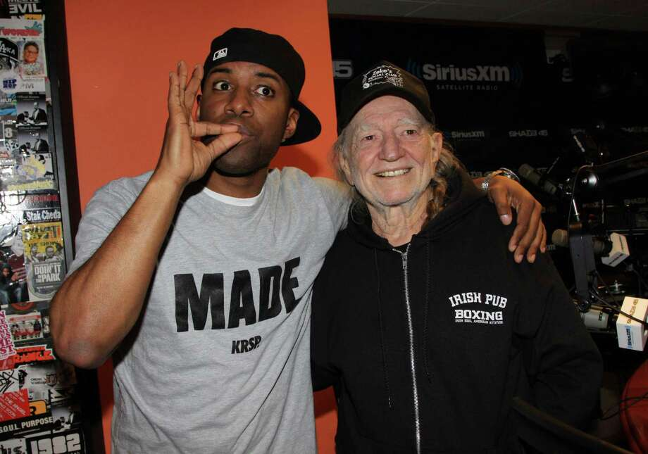 "NEW YORK, NY - MAY 14:  (L-R) DJ Whoo Kid and Willie Nelson invade ""The Whoolywood Shuffle"" at SiriusXM Studio on May 14, 2012 in New York City.  (Photo by Johnny Nunez/WireImage) Photo: Johnny Nunez, Getty / 2012 Johnny Nunez"