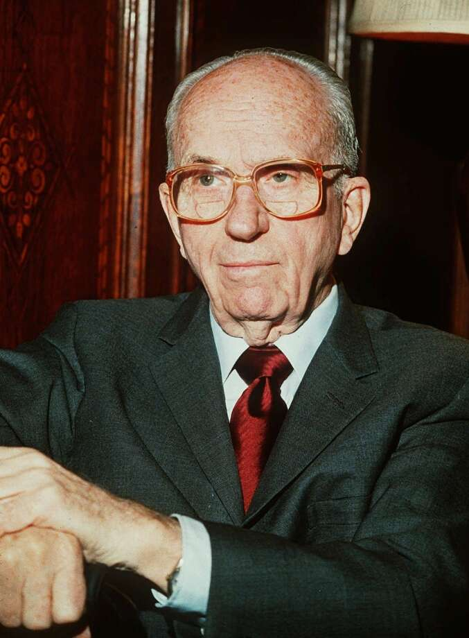 Author James Michener is shown in this 1987 file photo.  (AP Photo) Photo: AP / AP