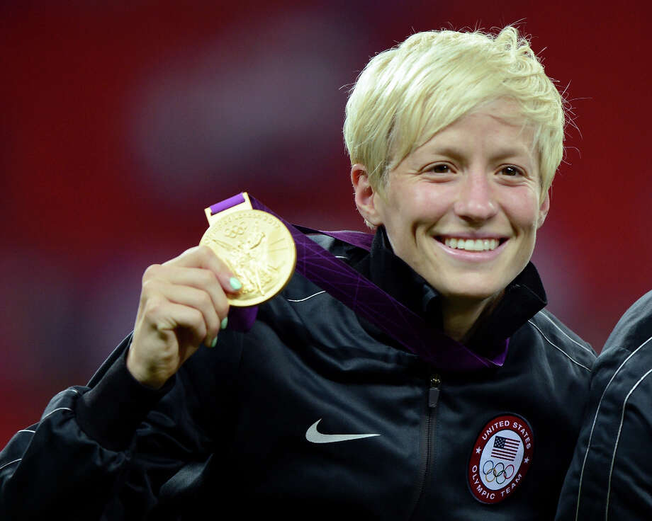 Megan Rapinoe: The professional soccer player revealed her orientation in an interview with Out magazine in 2012. Photo: Michael Regan, Getty Images / 2012 Getty Images
