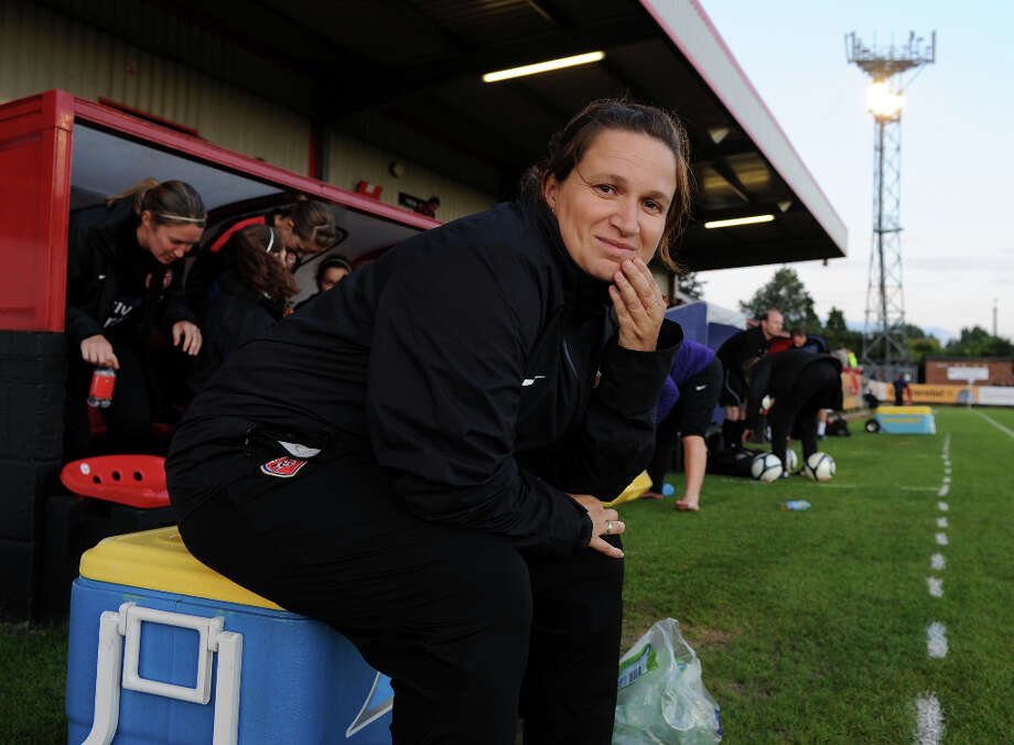 Laura Harvey Head coach and general manager Age: 32 Hometown: Bulkington, England Last club: Arsenal Ladies FC (head coach)  Photo: David Price, Arsenal FC Via Getty Images / 2012 The Arsenal Football Club Plc