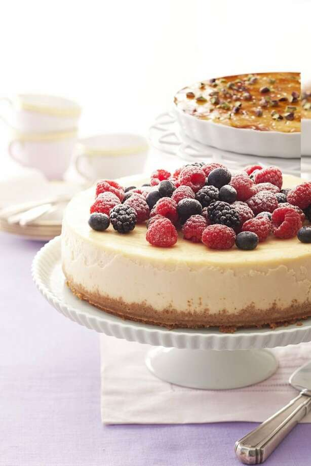 Good Housekeeping recipe for Berry-Ricotta Cheesecake. Photo: Kate Sears