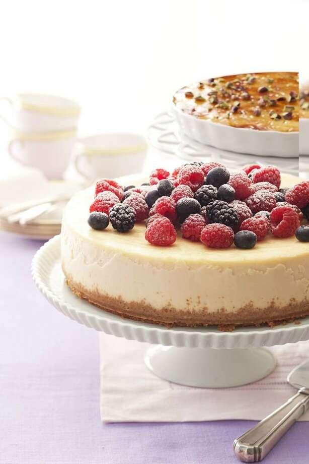 Good Housekeeping recipe for Berry-Ricotta Cheesecake. Photo: Kate Sears
