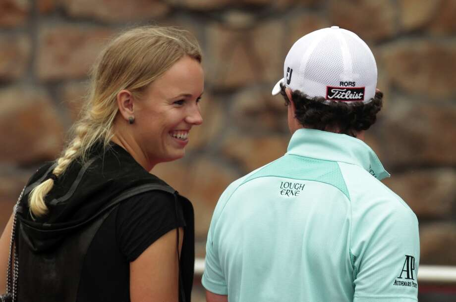 Caroline Wozniacki, Danish tennis star and Rory McIlroy of Northern Ireland after the third round of the WGC-HSBC Champions at Sheshan International Golf Club on November 5, 2011 in Shanghai, China. Photo: Ross Kinnaird, Getty Images / 2011 Getty Images