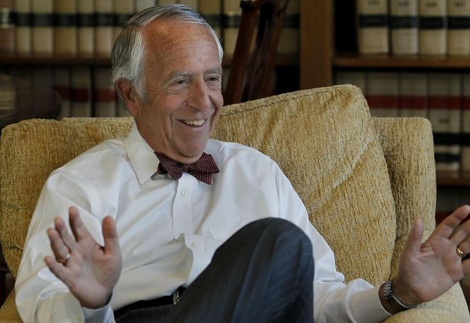 Judge Charles Breyer smiles as he recalls putting together the exhibit. U.S. Federal judge Charles Breyer has put together a photography exhibition in the Federal building in San Francisco, Calif. which shows the history and people of the Ninth District, over which he presides. Photo: Brant Ward, The Chronicle