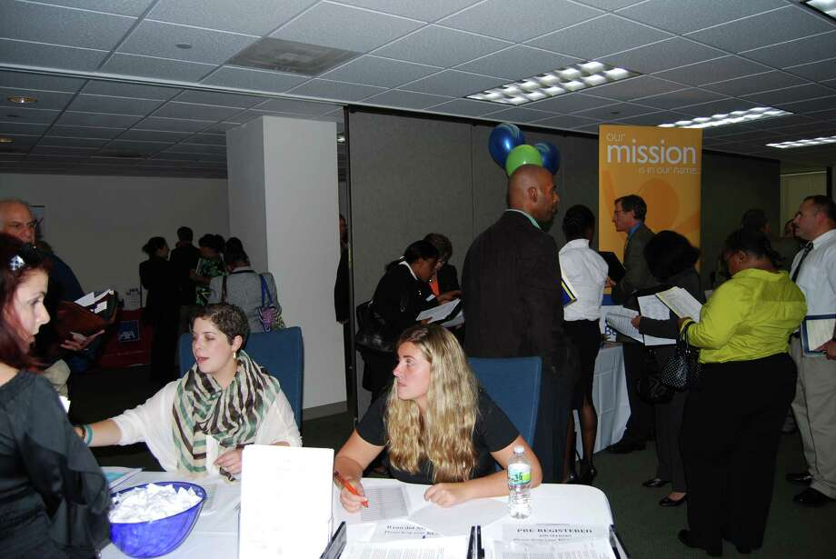 A recent job fair put on by FairfieldCountyjobs.com. Photo: Contributed