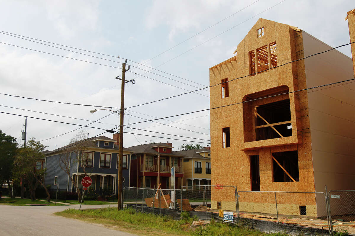 Townhomes sit at the intersection of 25th and Beavis streets in the Shady Acres area. The city is proposing changes to allow greater housing density outside Loop 610.