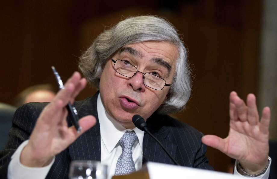 Energy Secretary nominee Ernest Moniz of Massachusetts, testifies on Capitol Hill in Washington, Tuesday, April 9, 2013, before a Senate Energy and Natural Resources hearing on his nomination.   (AP Photo/Manuel Balce Ceneta) Photo: Manuel Balce Ceneta, STF / AP