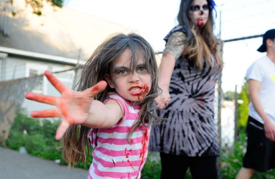People keep their clothes on for Fremont\'s annual annual Red, White and Dead Zombie Walk. But they\'re out for brains. It\'s set for July 6.