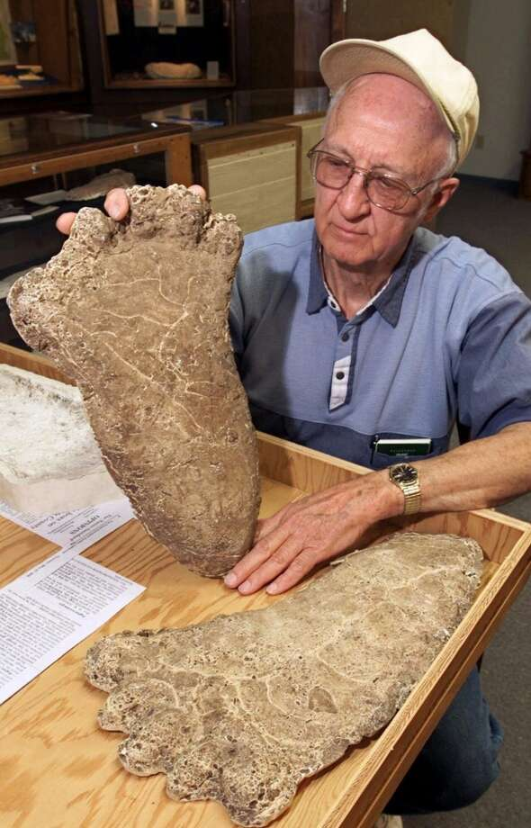 More proof of Bigfoot: A giant footprint found in Northern California and now on display in the state's Willow Creek-China Flat Museum. It's known for its Bigfoot exhibit. Photo: Associated Press