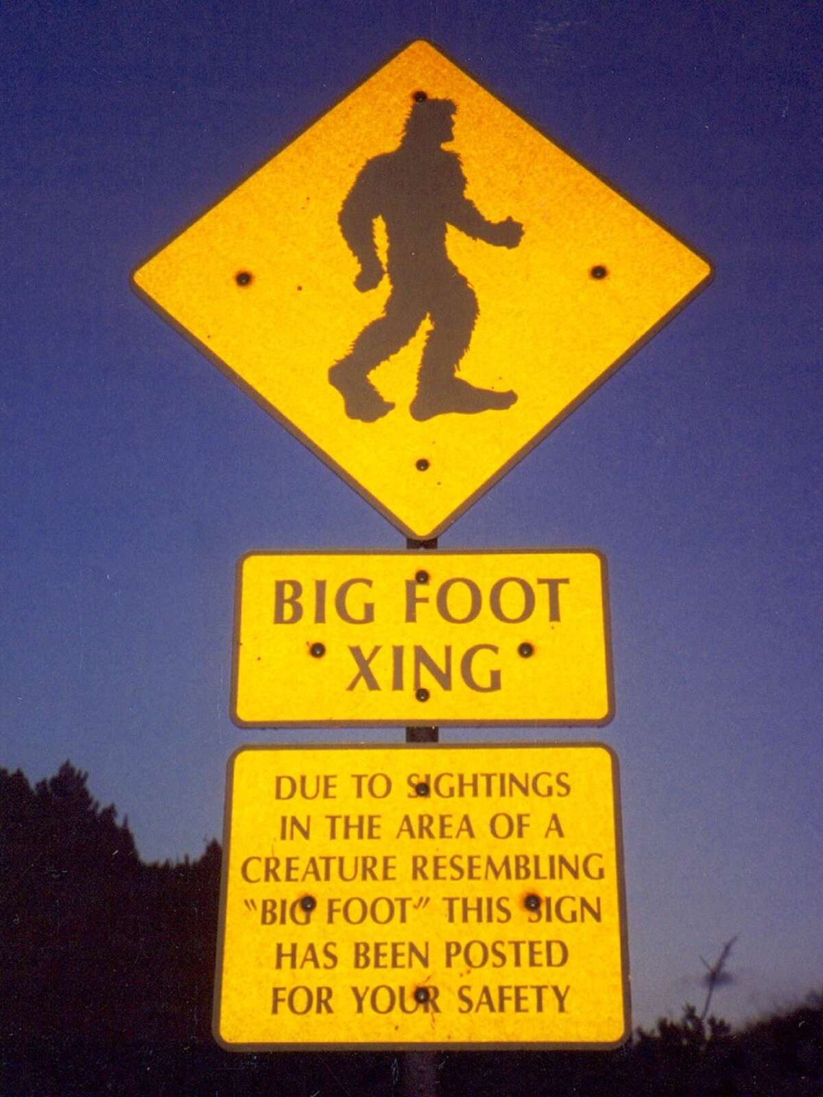 On the tragedy hoax front: Randy Lee Tenley was killed in 2012 while trying to impersonate Bigfoot on highway 93 in Montana. Tenley wanted to incite more Bigfoot sightings by dressing up in a military style ghillie suit and walking along the highway. He was struck by two cars, each driven by teenage girls, who were unable to stop by the time they saw him.