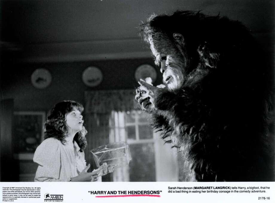 Bigfoot was also key to the 1980s John Lithgow movie, ''Harry and the Hendersons.'' Photo: Universal City Studios, Inc
