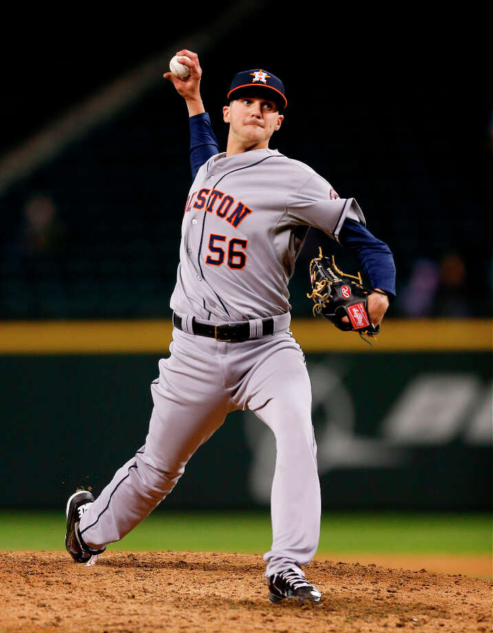 Relief pitcher Paul Clemens #56 of the Astros pitches against the Mariners. Photo: Otto Greule Jr, Getty Images / 2013 Getty Images