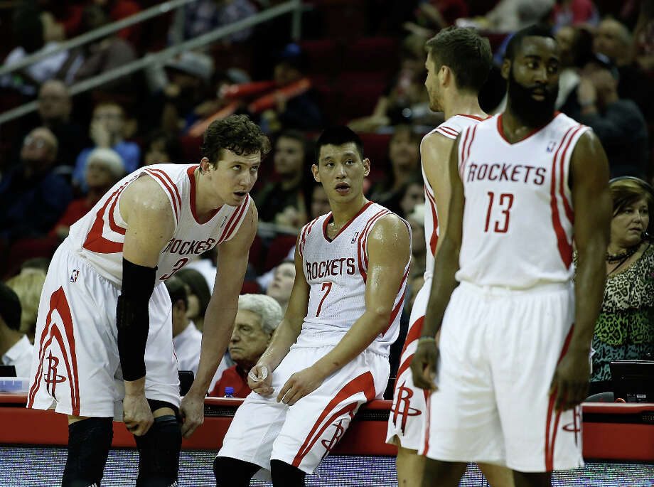 ROCKETS (44-34) Seed: No. 7 Season series vs. Spurs: Spurs won 3-1. Comment: Omer Asik defends Tim Duncan better than most bigs in the league, and James Harden always scores in droves vs. Spurs. But they can't handle a healthy Tony Parker, who usually doesn't have a problem getting to the basket. PHOTO: Omer Asik (from left), Jeremy Lin, Chandler Parsons and James Harden wait near the bench during the game against the Minnesota Timberwolves at the Toyota Center on March 15 in Houston. Photo: Scott Halleran, Getty Images / 2013 Getty Images