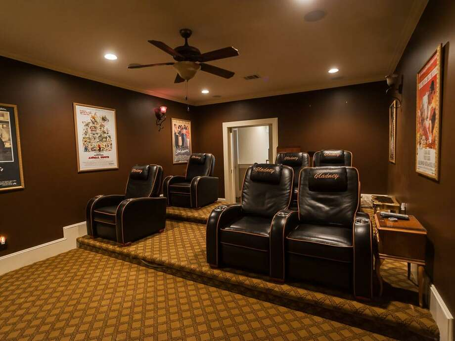 The home's media room. Photo: John Daugherty Realtors
