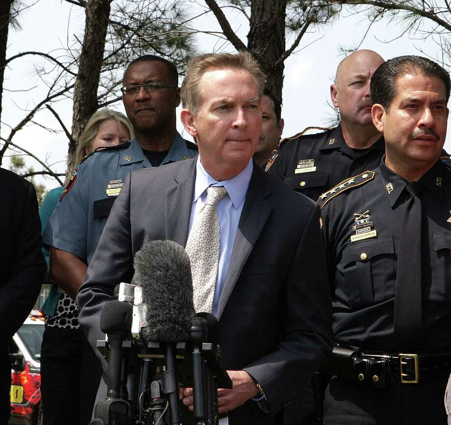 Senior Vice Chancellor of Lone Star College System Rand Key speaks during a press conference updating the multiple stabbing incident at Lone Star College's Cypress-Fairbanks campus. Photo: James Nielsen, Houston Chronicle / © 2013 Houston Chronicle
