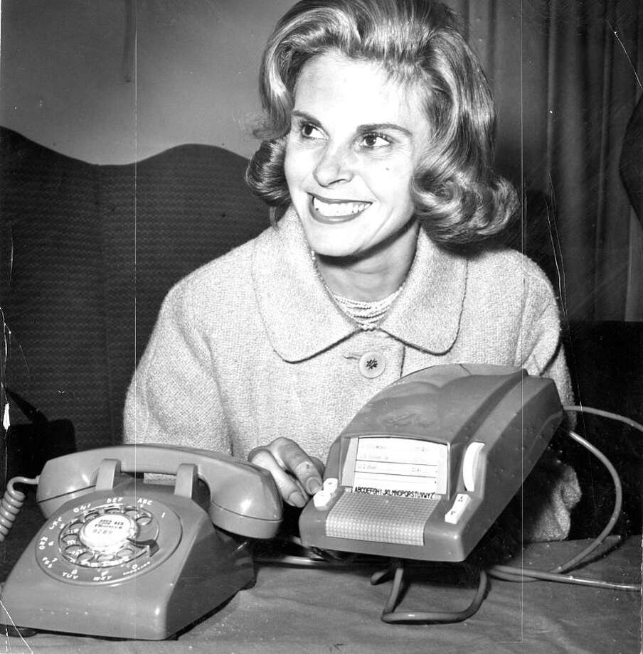 Oct. 2, 1963: Marianne Armanino works an automatic dialer. I chose this photo because it was taken by Joe Rosenthal, who shot the Raising the Flag on Iwo Jima photo. I\'m guessing his blood wasn\'t racing as much on this assignment. Photo: Joe Rosenthal, The Chronicle / ONLINE_YES
