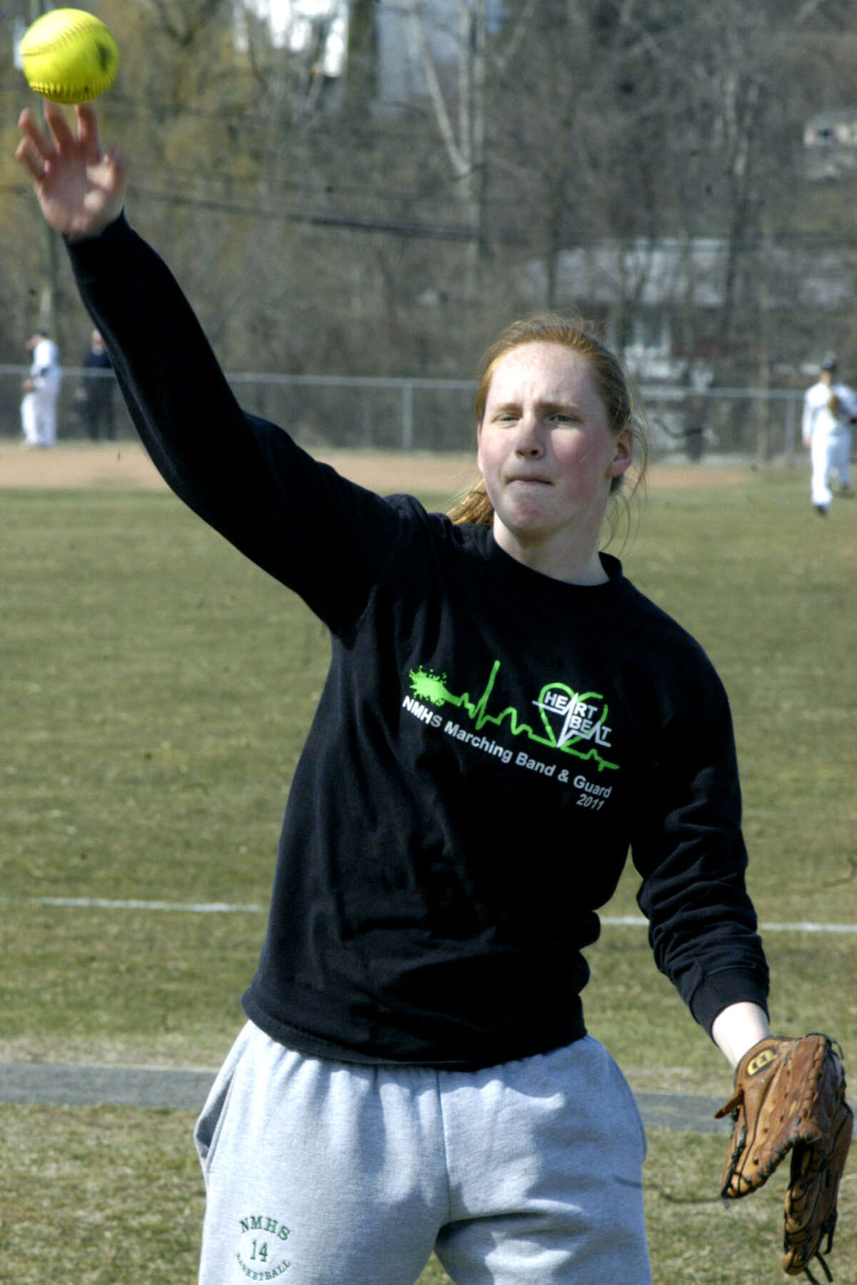 Maggie Grubb brings lots of experience to her role as Green Wave third baseman for New Milford High School softball. April 2013