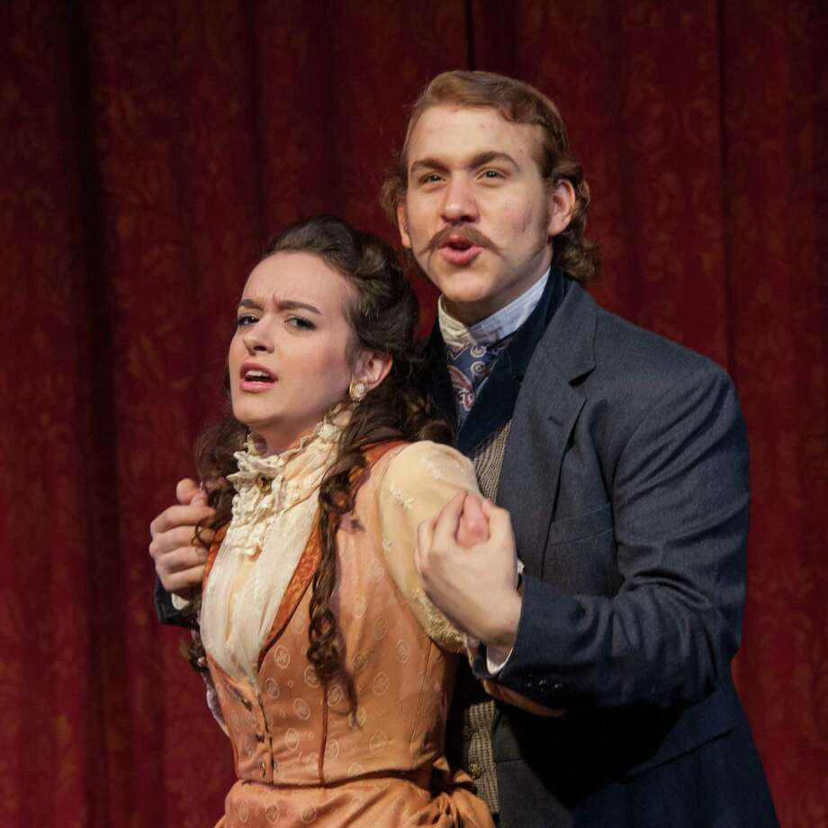 "Sara Curtis and Nick Martiniano in Theatre Institute at Sage's  production of ""The Mystery of Edwin Drood,"" onstage from April 12-21, 2013. (Courtesy Theatre Institute at Sage)"