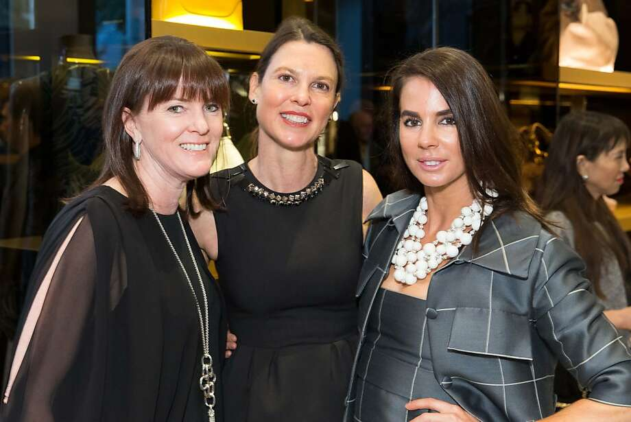 Allison Speer, Dorka Keehn and Fruzsina Keehn at a benefit to support the installation of The Bay Lights hosted by Gucci on April 09, 2013. Photo: Drew Altizer Photography