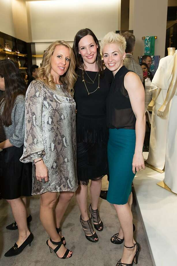 Kate Lamb, Kirsten Skipper and Danielle Velasco at a benefit to support the installation of The Bay Lights hosted by Gucci on April 09, 2013. Photo: Drew Altizer Photography