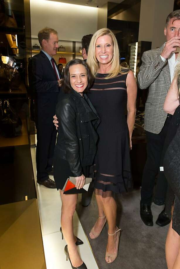 Becca Prowda and Kimberly Bakker at a benefit to support the installation of The Bay Lights hosted by Gucci on April 09, 2013. Photo: Drew Altizer Photography