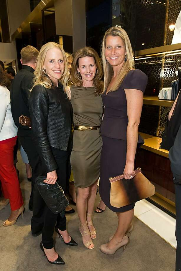 Jessica Wynne, Lindsay Bolton and Jocelyn Sandler at a benefit for The Bay Lights hosted by Gucci on April 09, 2013. The private cocktail party helped raise funds to support the installation of the monumental Bay Bridge light sculpture by artist Leo Villareal. Photo: Drew Altizer Photography