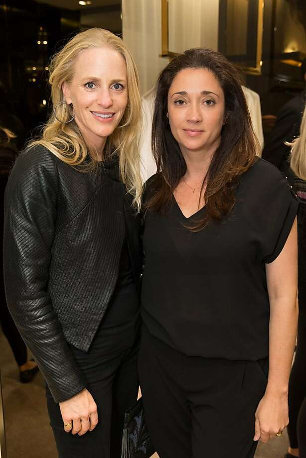 Jessica Wynne and Soledad Alzada at a benefit to support the installation of The Bay Lights hosted by Gucci on April 09, 2013. Photo: Drew Altizer Photography