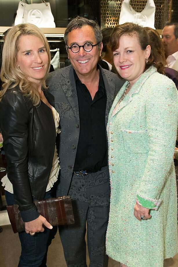 Summer Tompkins Walker, Ricky Serbin and Jennifer Raiser at a benefit to support the installation of The Bay Lights hosted by Gucci on April 09, 2013. Photo: Drew Altizer Photography