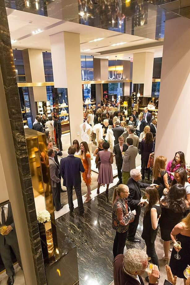 Guests mingle during a benefit to support the installation of The Bay Lights hosted by Gucci on April 09, 2013. Photo: Drew Altizer Photography