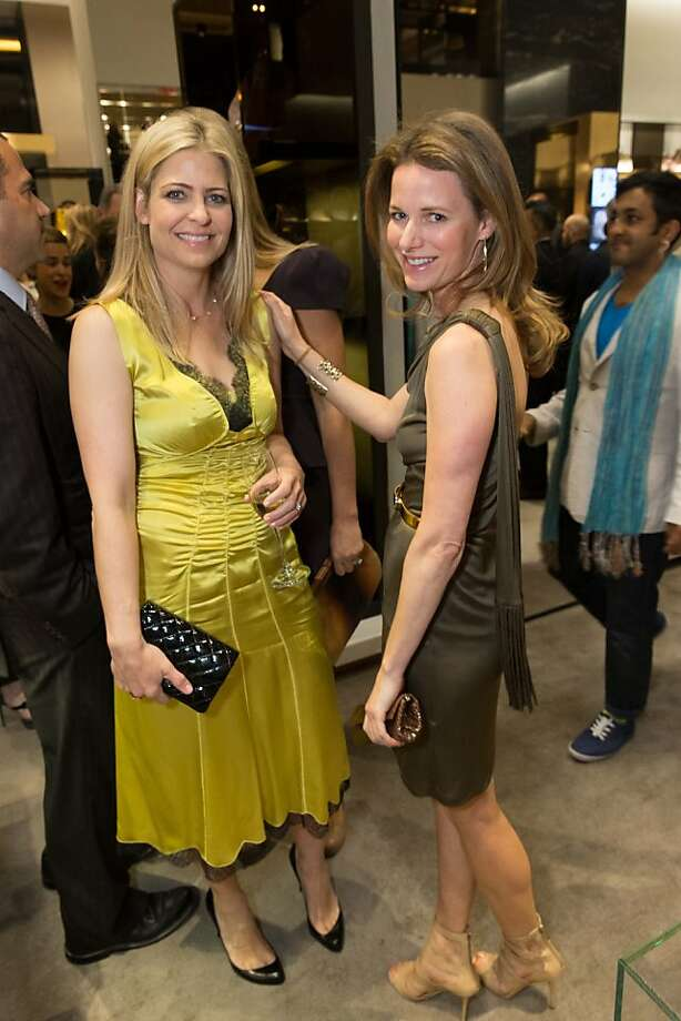 Jenna Hunt and Lindsay Bolton at a benefit to support the installation of The Bay Lights hosted by Gucci on April 09, 2013. Photo: Drew Altizer Photography