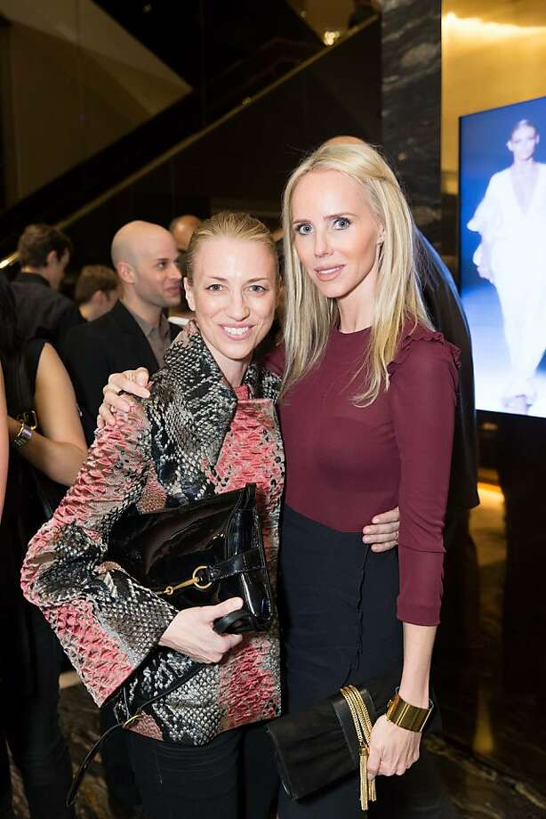 Susan Chokachi and Vanessa Getty at a benefit to support the installation of The Bay Lights hosted by Gucci on April 09, 2013. Photo: Drew Altizer Photography