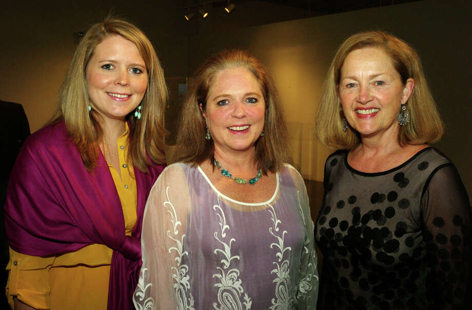 OTS/HEIDBRINK - CeCe Frost Griffin (from left), Lou Celia Frost and Paula Owen at the Savor The Arts event at the Southwest School of Art on 4/4/2013. This is #1 of 2 photos. names checked photo by leland a. outz Photo: LELAND A. OUTZ, SPECIAL TO THE EXPRESS-NEWS / SAN ANTONIO EXPRESS-NEWS